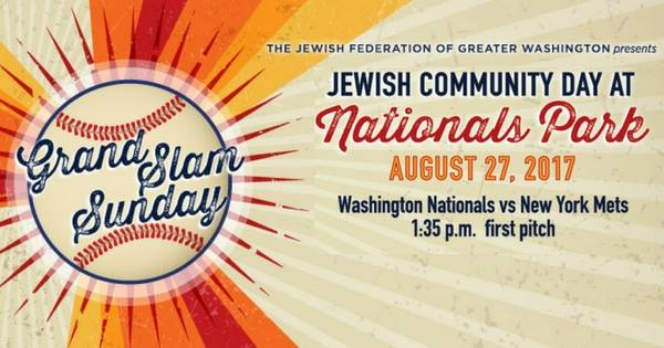 Grand Slam Sunday: Jewish Community Day at Nationals Park with JSSA