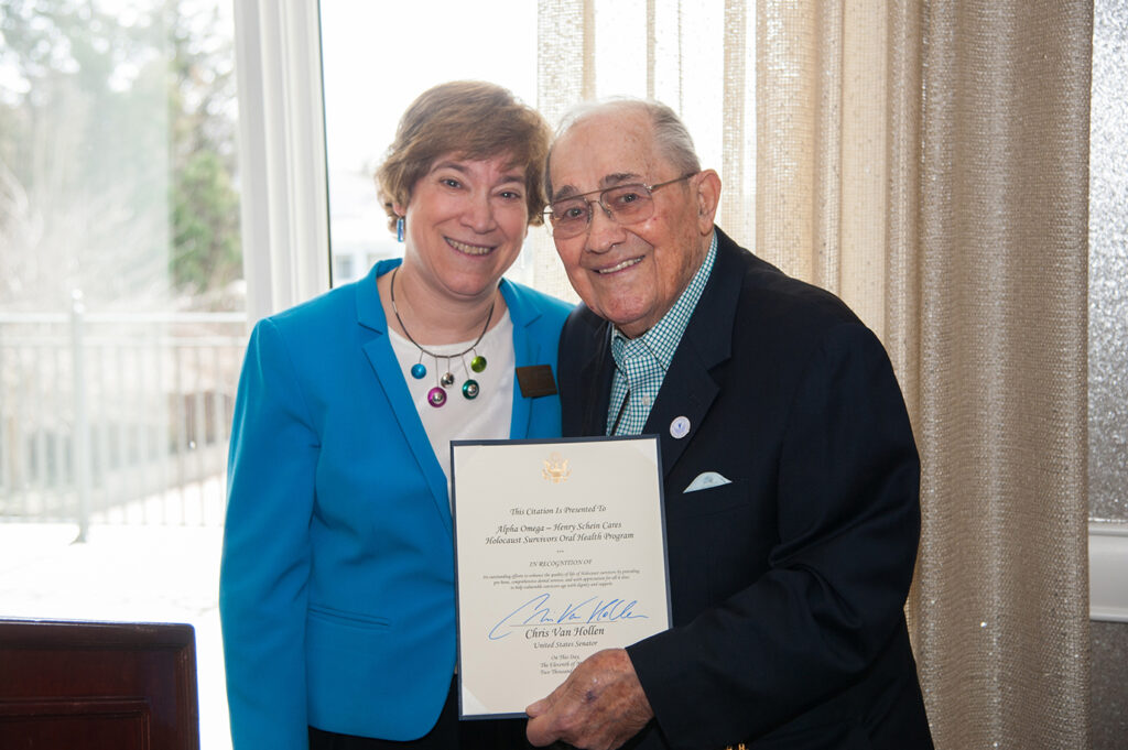 Alpha Omega-Henry Schein Cares Holocaust Survivors Oral Health program recognized the Washington, DC chapter of the Alpha Omega International Dental Fraternity | JSSA