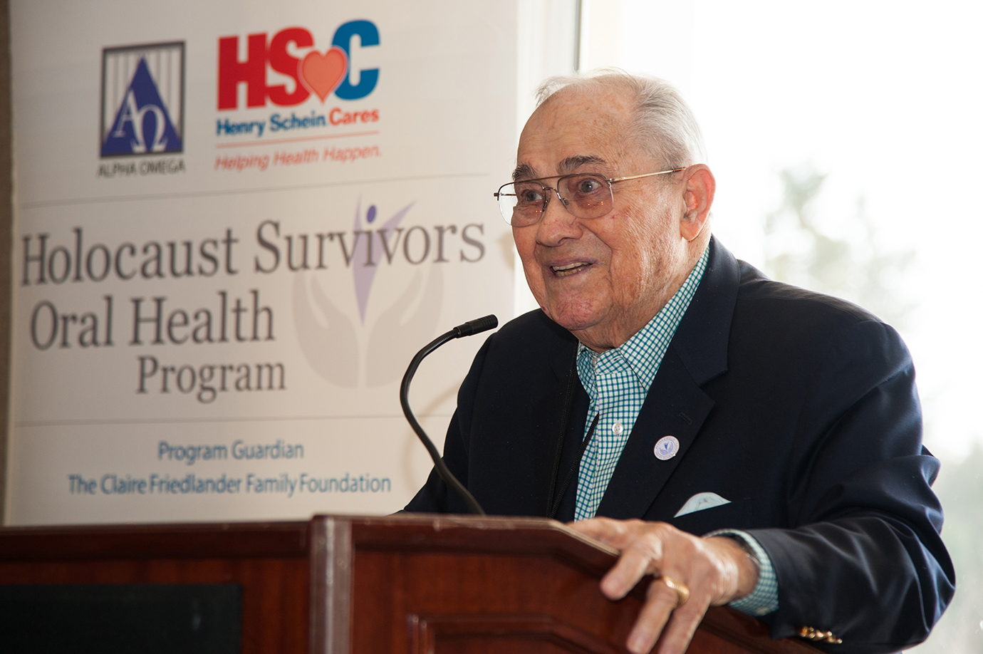 Alpha Omega-Henry Schein Cares Holocaust Survivors Oral Health program recognized the Washington, DC chapter of the Alpha Omega International Dental Fraternity
