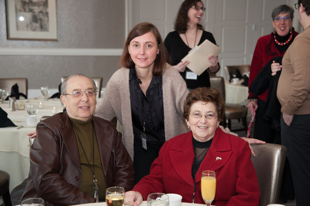 JSSA Holocaust survivor clients with their Russian-speaking care manager